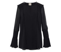 Cutout chiffon blouse