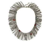 Silver-tone, Crystal And Stone Necklace Multicolor Size --