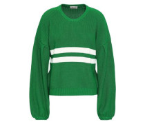 Intarsia Cotton-blend Sweater Green