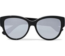 M3 Cat-eye Acetate Mirrored Sunglasses Black Size --