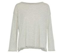 Mélange Cotton And Cashmere-blend Top Light Gray  /S