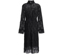 Pleated lace shirt dress