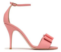 Bow-embellished Patent-leather Sandals Bubblegum