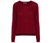 Fisherman cable-knit sweater