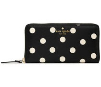 Lacey Polka-dot Faux Textured-leather Wallet Black Size --