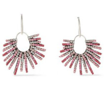 Kravis Convertible Oxidized Silver-tone Crystal Earrings Pink Size --
