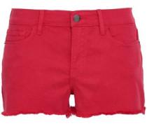 Denim Shorts Red  4