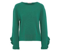 Ruffle-trimmed Cashmere Sweater Jade