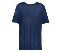 Merino Wool-blend Top Navy