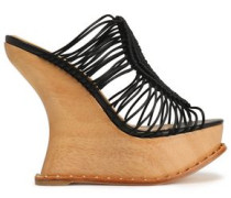 Macramé wedge sandals