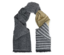 Striped Intarsia-knit Scarf Sage Green Size --