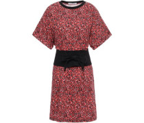 Marta Floral-print Cotton-jersey Mini Dress Tomato Red