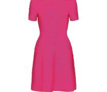 Off-the-shoulder Bandage Mini Dress Bright Pink