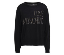 Studded Wool-blend Sweater Black