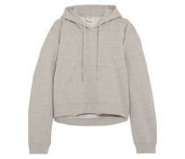 Printed French cotton-blend terry hooded sweatshirt