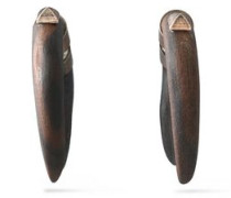 Burnished wood earrings