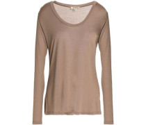 Slub Modal-jersey Top Light Brown