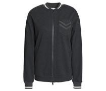 Bead-embellished cotton-blend bomber jacket