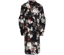 Sitwell mesh-paneled floral-print velvet coat