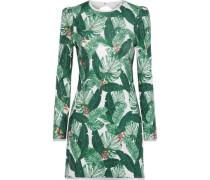 Amelia sequined printed chiffon mini dress