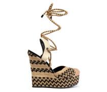 Amandinha woven espdarille wedge sandals