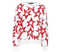 Printed French Cotton-terry Sweatshirt White