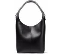 Embellished Leather Tote Black Size --