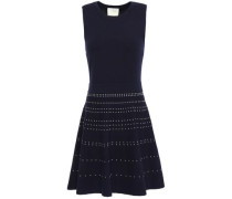 Flared Knitted Dress Navy