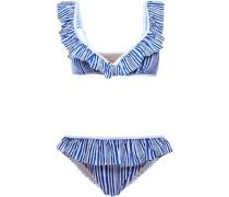 Paige ruffled striped bikini