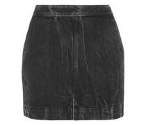 Distressed Denim Mini Skirt Charcoal