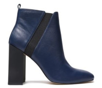 Leather Ankle Boots Indigo