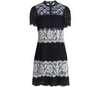 Paneled lace mini dress