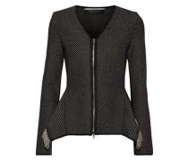 Brannon Fringed Knitted Jacket Black