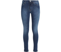 Faded high-rise skinny jeans