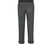 Woodsman cropped marled tweed straight-leg pants