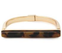 24-karat Gold-plated Tortoiseshell Acetate Cuff Gold Size --