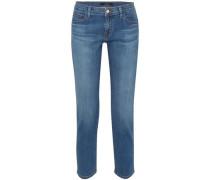 Lovesick Cropped Mid-rise Slim-leg Jeans Mid Denim  3