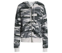 Printed jersey hooded jacket
