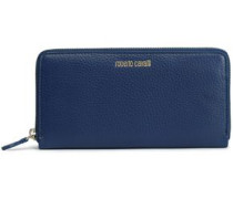 Textured-leather Wallet Navy Size --