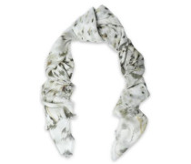 Printed modal and silk-blend scarf