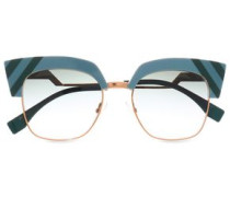 Cat-eye Acetate And Gold-tone Sunglasses Sky Blue Size --