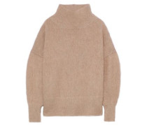 Brushed-knitted Turtleneck Sweater Sand