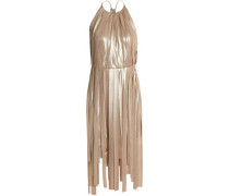 Fringed Lamé Dress Gold
