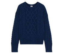 Iona Cable-knit Cashmere Sweater Navy
