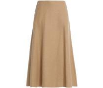 Wool-blend midi skirt