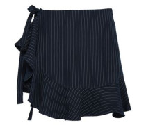 Luella Pinstriped Twill Shorts Navy