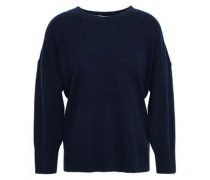 Melanie Wool And Cashmere-blend Sweater Midnight Blue