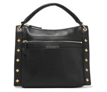 Jane Studded Pebbled-leather Shoulder Bag Black Size --