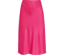 Marta Silk-satin Skirt Pink