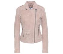 Suede Biker Jacket Pastel Pink